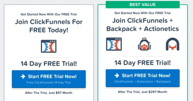 free trial for clickfunnels software